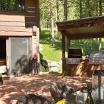 Chalet outdoor deck in Jackson Hole