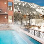 Jackson Hole outdoor heated pool in winter