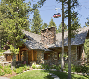 Chalet at foot of Jackson Hole Mountain Resort