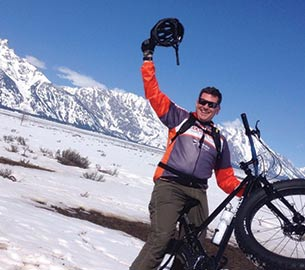 Winter biking in Jackson Hole