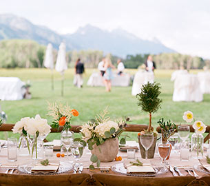Outdoor weddings in Jackson Hole