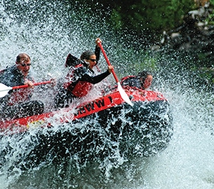 White water rafting in Wyoming