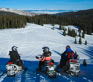 Snowmobiling in Jackson Hole