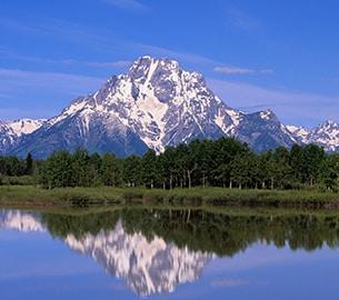 Teton Mountains in Wyoming