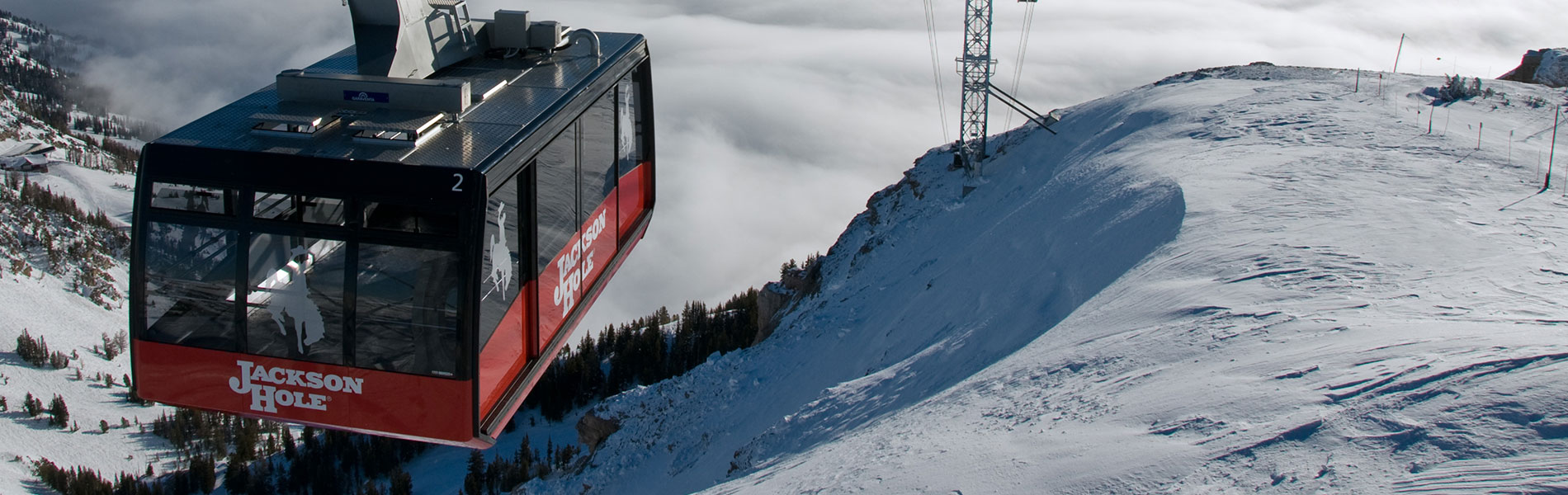 Jackson Hole gondola on mountain top