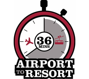 Airport to Resort in 36 minutes logo