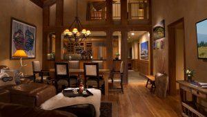 Teton Village private lodge interior