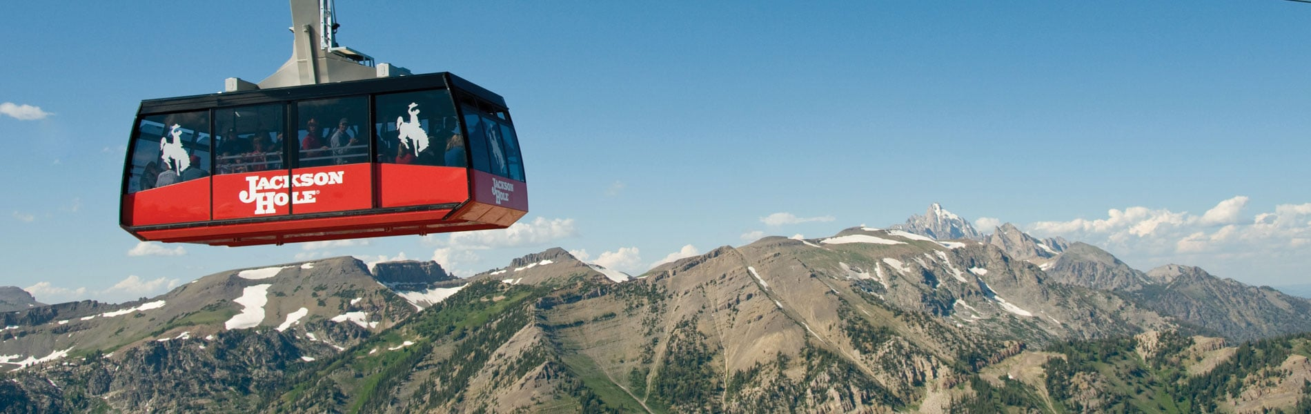 Jackson hole tram in the summer time.