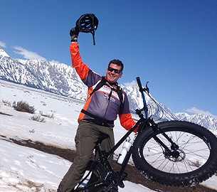 Fat biking near Jackson Hole.