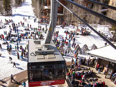 The Jackson Hole Mountain Resort ski gondola.