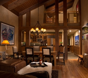 Crystal Springs Penthouse interior view.