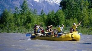Floating on the Snake River.