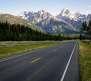Teton Mountain scenic drive.