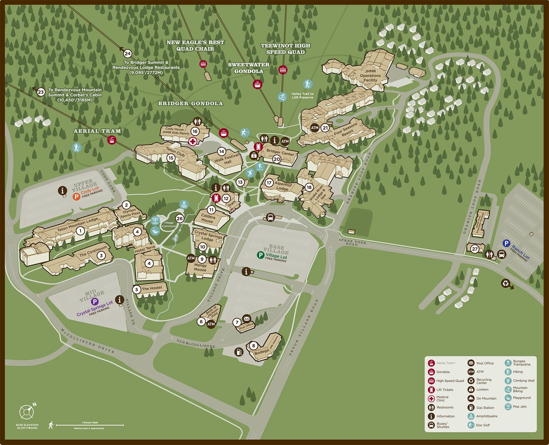 Color coded map of Jackson Hole.