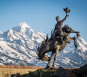 Jackson Hole statue.