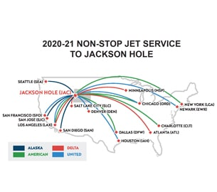 2020-21 Non-Stop jet service to Jackson Hole.