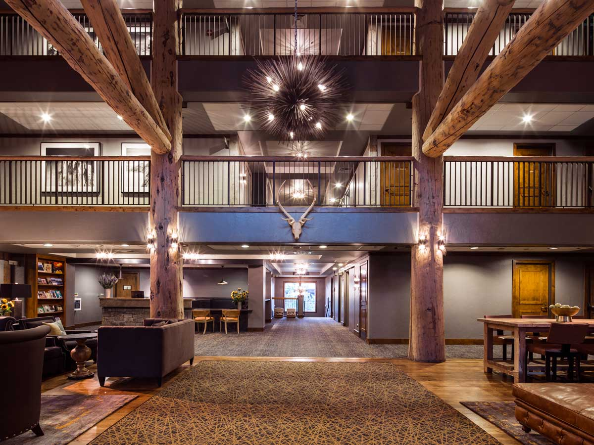 The inside of Teton Mountain Lodge.