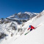 Skier In Jackson Hole.