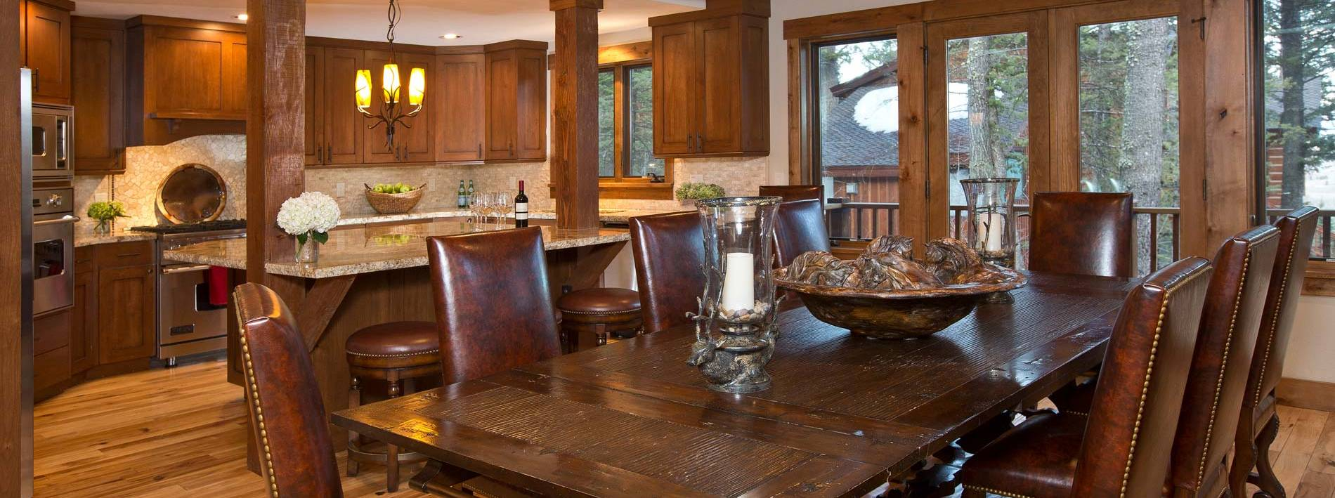 Jackson Hole Blue Moose lodge kitchen table