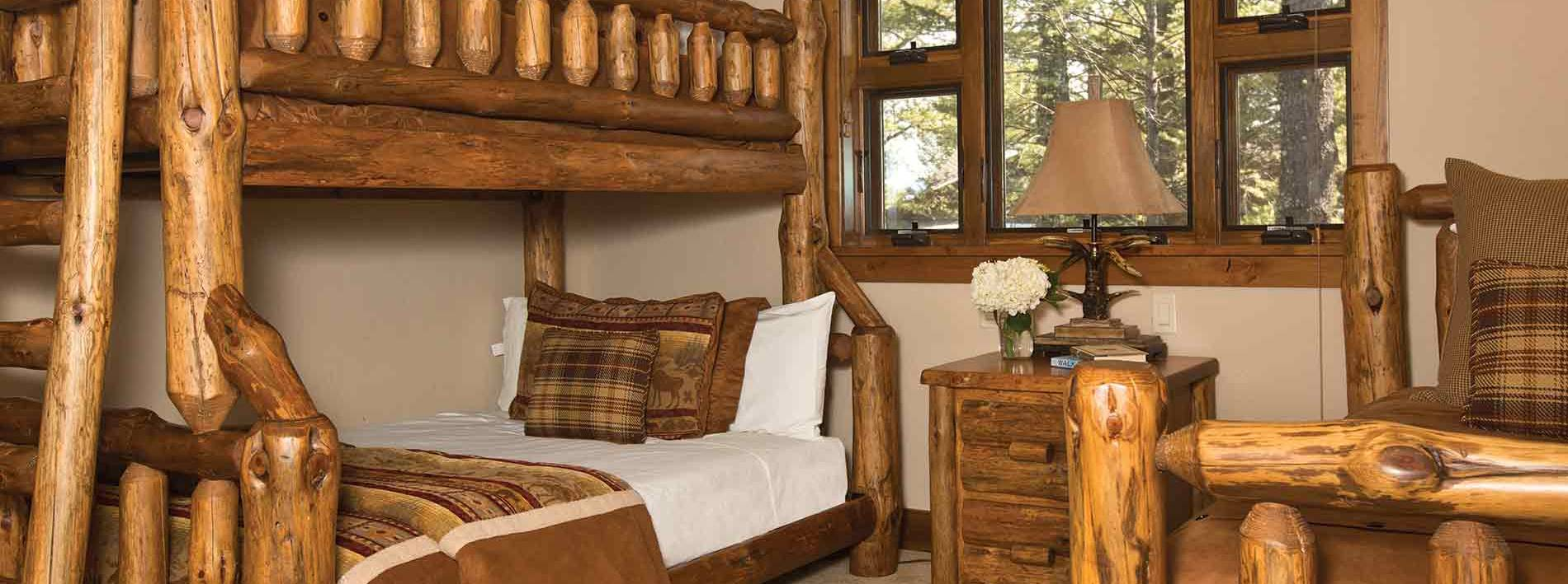Bunk Beds in the Blue Moose Lodge in Jackson Hole
