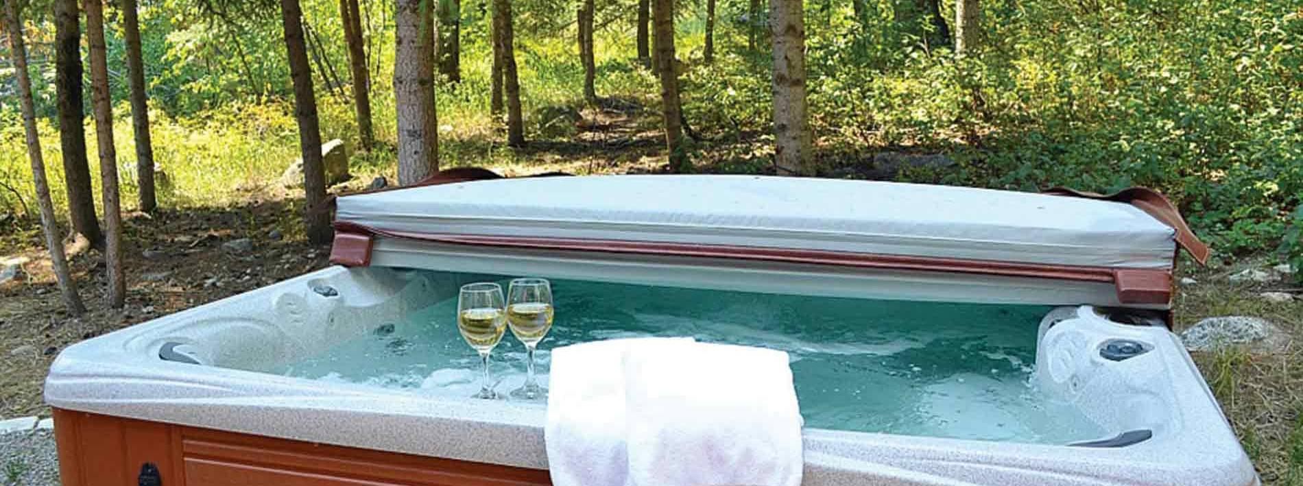 Hot tub at the Blue Moose Lodge in Jackson Hole