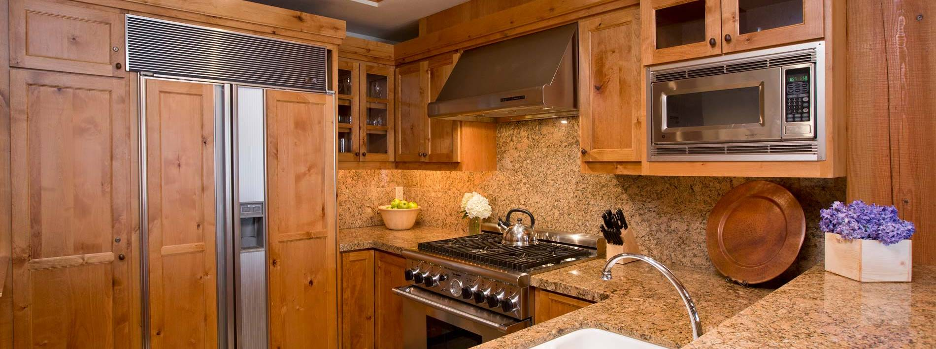 Large kitchen in Paintbrush private home rental
