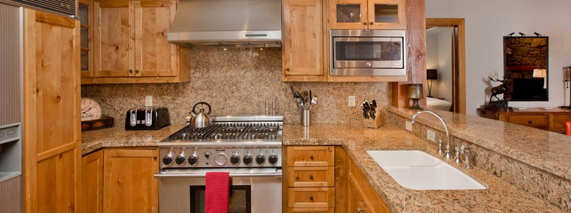 Pathfinder private home rental large kitchen