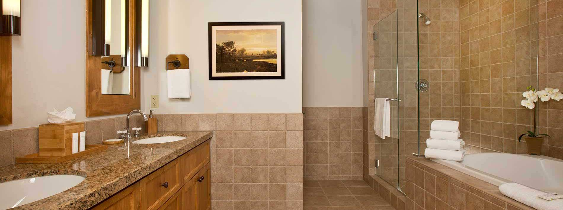 Large bathroom in this 3.5 bathroom private home rental